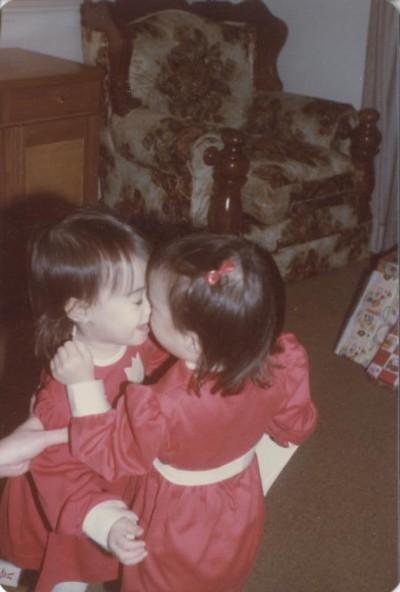 Addie & Emma at Christmas